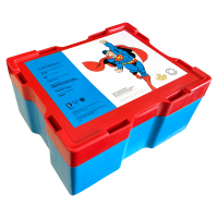 Empty Red and Blue Monster Box for RCM Superman Silver Coins
