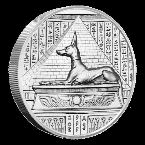 2 oz Ultrahochrelief Silbermedaille - Anubis