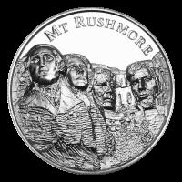 2 oz Silbermedaille amerikanische Sehenswürdigkeiten Serie   Mount Rushmore Ultrahochrelief