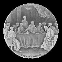 2 oz Silbermünze - biblische Serie   Das letzte Abendmahl - 2016