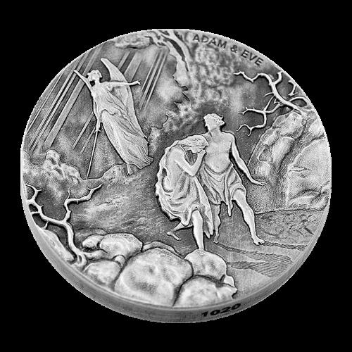 2 oz Silbermünze - biblische Serie | Adam und Eva - 2016