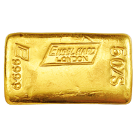 5 oz Engelhard London Vintage Poured Gold Bar