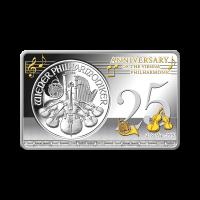 3 oz Silberbarren 25. Jubiläum der Wiener Philharmoniker Münze 2014