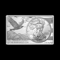 3 oz Silberbarren 30. Jubiläum der amerikanischer Adler Silbermünze 2016