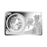 Srebrna Sztabka 3 oz 2015 25th Anniversary of the Australian Kookaburra Coin