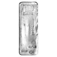 100 oz Johnson Matthey TD Bank Vintage Silver Bar