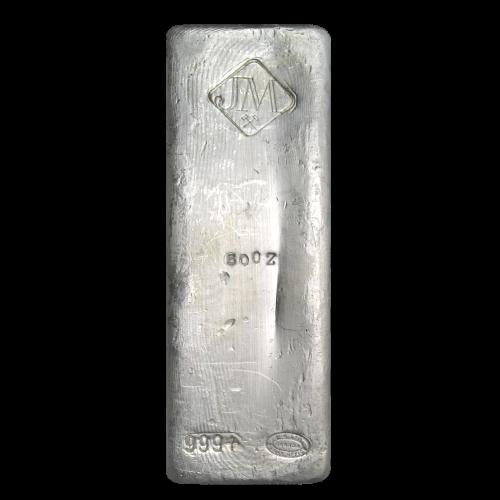 50 oz Johnson Matthey klassischer Silberbarren