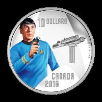 1/2 oz polierte Platte Silbermünze RCM Star Trek™  Spock 2016