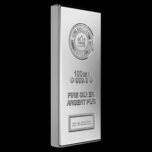 100 oz Silberbarren Royal Canadian Mint neue Aufmachung