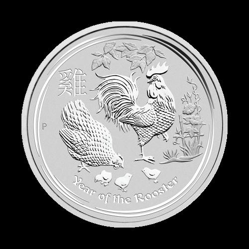 """Abbild von Königin Elisabeth II. und die Worte """"Elizabeth II Australia 50 Cents 1/2 oz 999 Silver 2017"""""""