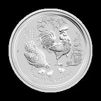 1/2 oz Silbermünze Jahr des Hahn Perth Prägeanstalt Mondserie 2017