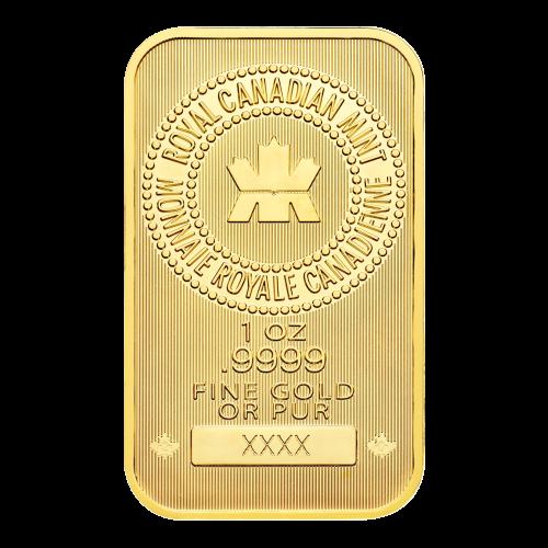 RCM-Logo – 1 oz - .9999 - FEINGOLD ODER REINES GOLD - Seriennummer