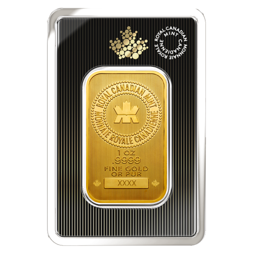 1 oz Goldbarren Royal Canadian Mint neue Aufmachung