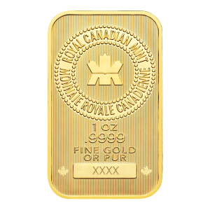 1oz Royal Canadian Mint New Style Gold Bar