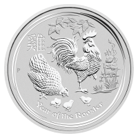 2oz 2017 Perth Mint Lunar Year of the Rooster Silver Coin