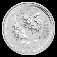 2 oz Silbermünze - Jahr des Hahns - Perth Prägeanstalt 2017