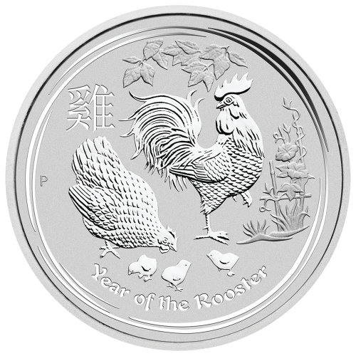 """Abbild von Königin Elisabeth II. mit den Worten """"Elizabeth II Australia 8 Dollars 5 oz 999 Silver 2017"""""""
