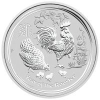 10oz 2017 Perth Mint Lunar Year of the Rooster Silver Coin