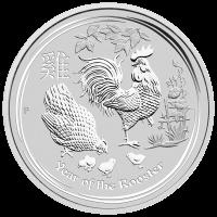 10 oz Silbermünze Jahr des Hahn Perth Prägeanstalt Mondserie 2017