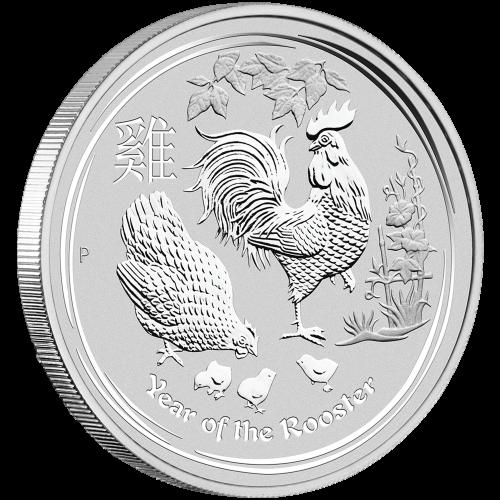 1 kg Silbermünze - Jahr des Hahns - Perth Prägeanstalt 2017