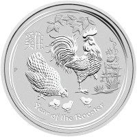 1 kg | kilo 2017 Perth Mint Lunar Year of the Rooster Silver Coin
