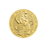 1/4 oz 2016 Royal Mint Queen's Beasts | Lion of England Gold Coin