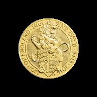 1/4 oz Goldmünze - Die Bestie der Königin  Löwe von England Royal Mint 2016