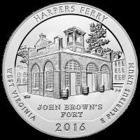 5 oz Silbermünze Wunderschönes Amerika| Harpers Ferry National Historic Park - 2016
