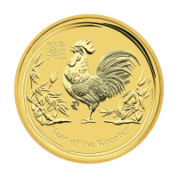 1/2 oz 2017 Perth Mint Lunar Year of the Rooster Gold Coin