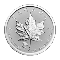 1 oz 2017 Canadisk Maple Leaf Growling Cougar Privy Reverse Proof Sølvmynt