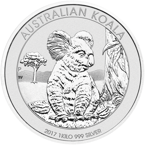 1 kg   kilo 2017 Australsk Koala Sølvmynt