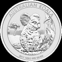 1kg 2017 Australische Koala Zilveren Munt
