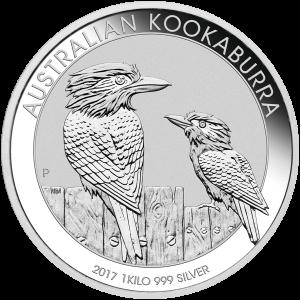 1 kg | kilo 2017 Australian Kookaburra Silver Coin