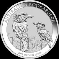 1 kg | Kilo Silbermünze australischer Kookaburra 2017