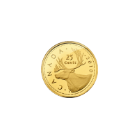 0.5 gram 2010 Caribou Gold Proof Coin