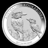 1 oz Silbermünze australischer Kookaburra 2017