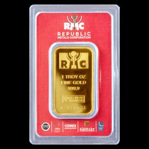 Lingot d'or Republic Metals Corporation de 1 once