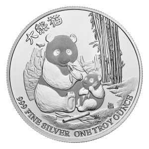 Srebna Moneta 1 oz 2017 Niue Silver Gold Bull Exclusive Panda