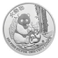 1 oz 2017 Niue Silver Gold Bull Exclusive Panda Silver Coin
