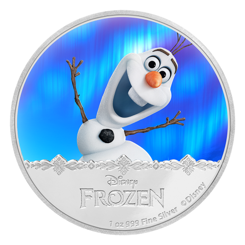 1 oz 2016 Disney Frozen | Olaf Silver Proof Coin