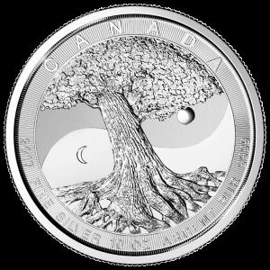 Pièce d'argent L'arbre de la vie de la Monnaie royale canadienne 2017 de 10 onces