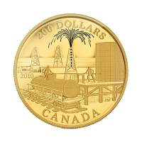 2010 Royal Canadian Mint Historical Commerce | Złota Moneta Lustrzana Petroleum and Oil Trade