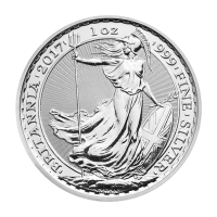Pièce d'argent Britannia 2017 de 1 once