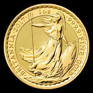 Pièce d'or Britannia 2017 de 1 once