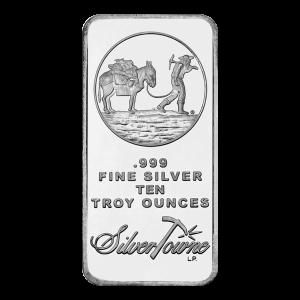 10 oz Silvertowne Prospector Silver Bar