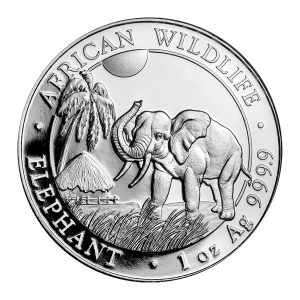 1 oz 2017 Somalian African Elephant Silver Coin