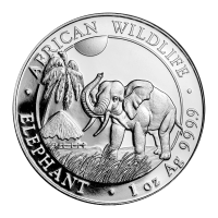 1 oz Silbermünze - somalischer afrikanischer Elefant - 2017