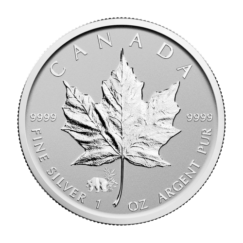 1 oz 2017 Canadian Maple Leaf Panda Privy Reverse Proof Silver Coin
