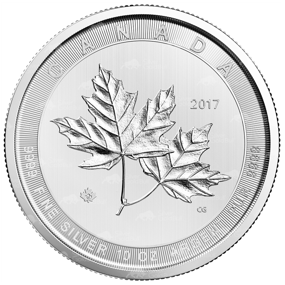 10 Oz 2017 Royal Canadian Mint Magnificent Maple Leaves
