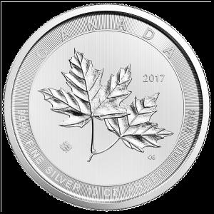 Pièce d'argent Feuilles d'érable magnifiques de la Monnaie royale canadienne 2017 de 10 onces